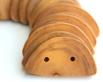 Elm buttons - clearance - 2.75 x 1.5 inch - 8 pieces