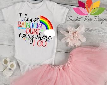Rainbow Svg, DXF, I Leave Rainbow Dust Everywhere I Go, Birthday Shirt, Rainbow Baby, New Baby cut file for silhouette cameo and cricut