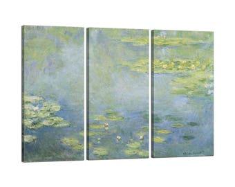 On canvas Claude Monet's Waterlilies frame
