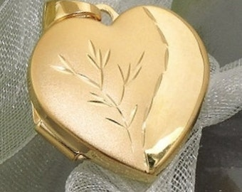 Filigree Heart Locket Pendant silver 925 / gold plated,