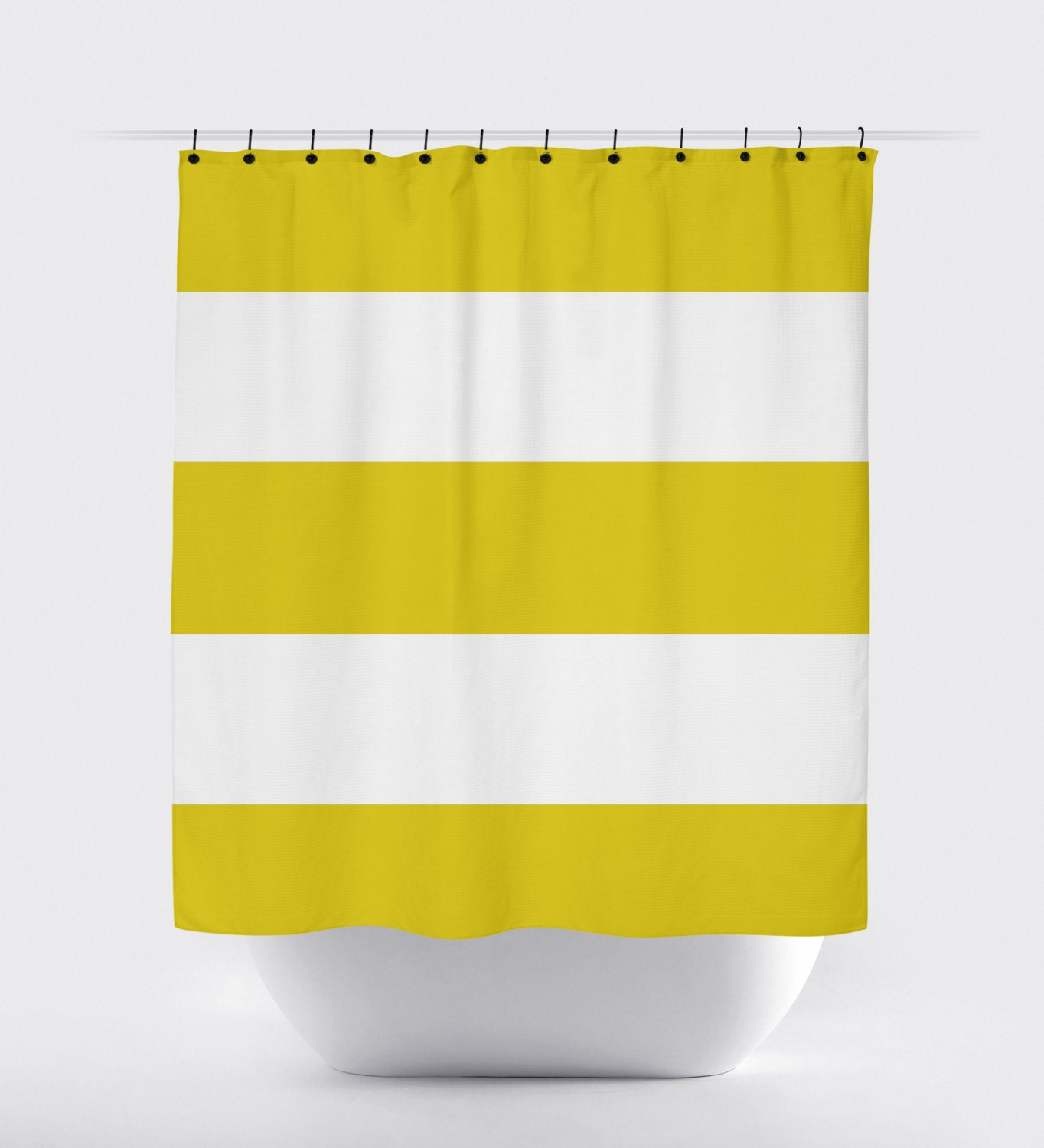 yellow style curtains shower for striped every curtain bathroom