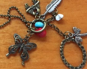 Abstract Charm Necklace