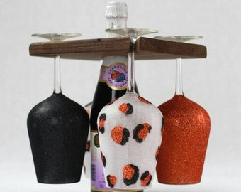 Custom Wine Glasses with Portable Wine Rack
