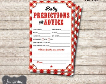 BBQ Baby Prediction Cards, BBQ Baby Shower Games, Baby Q Games, Printable PDF Files, Instant Download