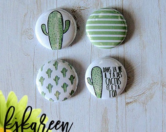 """Button - 1 """"in life, there are cactus! by vero85"""