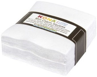 KONA 100% Cotton Mini White Squares-84 pieces