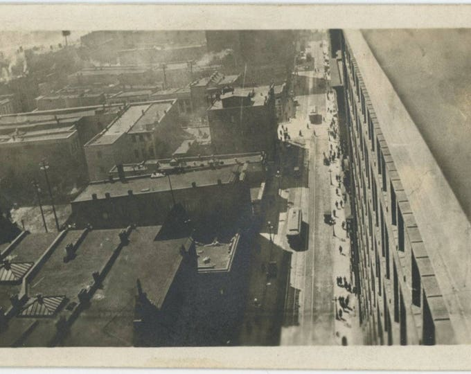 Vintage Snapshot Photo: City Streets, c1910s [82650]