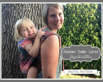 Onbuhimo Toddler Carrier - PDF Sewing Pattern - Buckle Onbuhimo - Baby Carrier