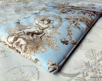 "Laptop cover laptop ""Versailles"" elegant, glamorous, sky blue"