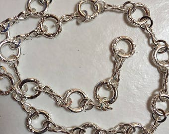 1 m of fancy silver alloy chains