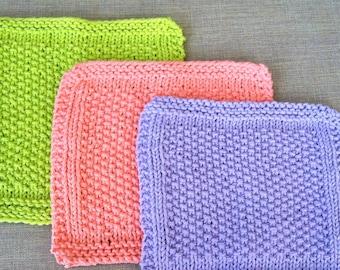 seed stitch wash cloths