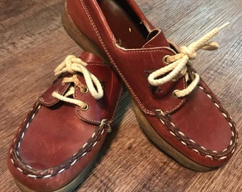 Women's Size 8 Gum Sole Dexter Boat Shoes