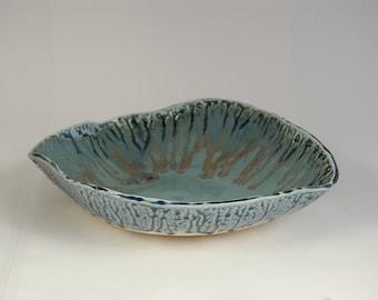 Blue Ash & Turquoise Decorative Bowl