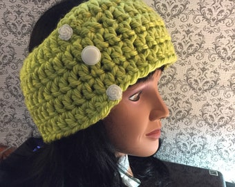 Adult Ear Warmer, Chunky yarn, Versatile Accessory, Neck Warmer, Women's Ear warmer