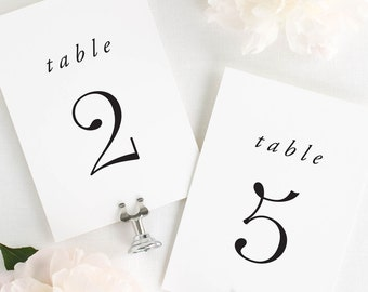 Poppy Table Numbers - 5x7""