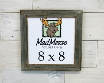 """8x8 BarnWood [Chunky x 1.25""""]  Picture Frame"""