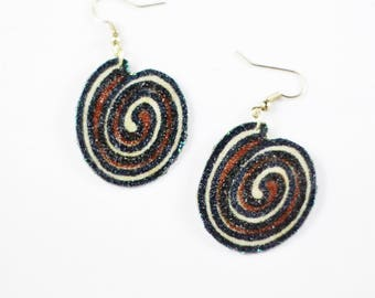 Earrings Upcycled African Print