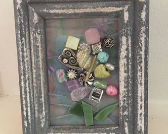 Mini Mixed Media Mosaic Bouquet 1