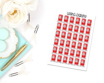 Kawaii Movie Rental Box Planner Stickers