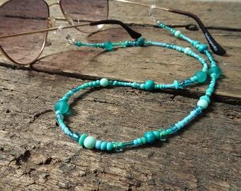 Eyeglass chain, turquoise, glasses holder, bohemian, sunglasses, gift for mom, teacher gift, glasses, boho jewelry, girlfriend gift, boho