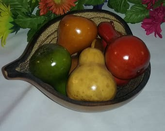 Gourd bowl,Gourd center piece,gourd fruit bowl,gourd art,gourd decor,meadowbrooke Gourds, gourdicopia