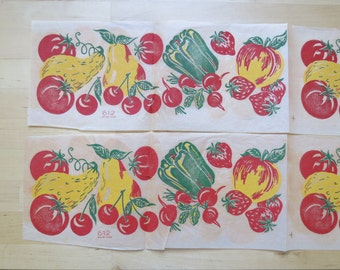 1950s Iron-On Fabric Transfer- Kitchen Veggies - Vintage Mail Order 612 UNUSED