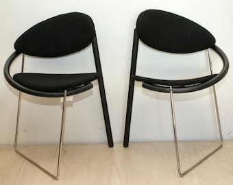 Memphis design Dining Room chairs by Mazairac and Boonzaaijer for Cabral 1986