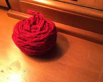 5 skeins of I Love This Yarn in Red