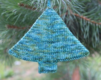 KNITTING PATTERN, Christmas Tree Ornament, knit, knitted, ornament, ornaments, holiday, season, winter, DIY, gift, project, decoration