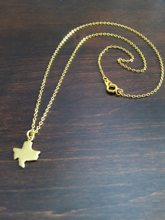 Texas necklace texas gold texas necklace texas jewelry like this item mozeypictures Choice Image