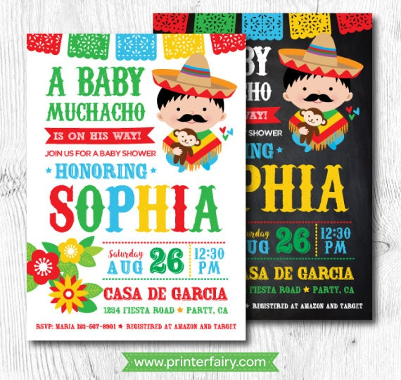 Awesome Fiesta Baby Shower Invitations, Mexican Baby Shower Invitations, Fiesta Baby  Shower For Boys, Mexican Fiesta Party, Digital, 2 Options