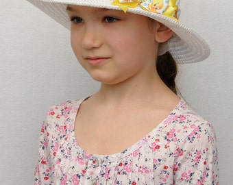Girls Hats Crochet Hat Easter Outfits for Girls Summer Hat Girls Bow Hat Tea Party Hat Baby Girl Hats Girls Sun Hat White Hat Wide Brim Hat