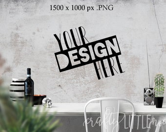 Mockup Mock Up Wall Design Empty Photography SVG Blank Printable PNG Garden Boho Desk Wall Chair Wine Blanks Commercial Use Photo