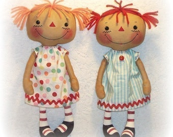 Cloth Doll Pattern, PDF pattern, Rag Doll Pattern, Sewing Pattern, Ragdoll, Soft Doll, Softie. instant download, digital download
