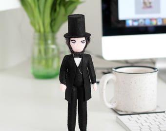 Abraham Lincoln doll, Politician doll, Famous in history, USA Politics,