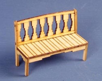 1:48 Dollhouse Miniature Southwest Style Bench Kit  / Quarter Inch Scale Bench Kit KBM Q106