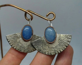 Mix metal earrings with Pietra d ' angelate