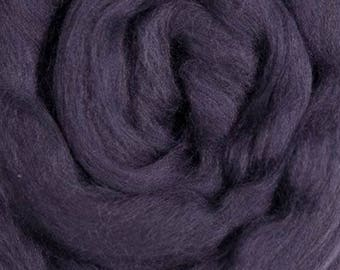 Plum solid Merino Wool Combed Top for spinning- 8 ounces