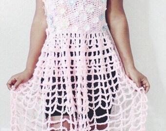The Garden Crochet Dress Pattern. Instant Download.