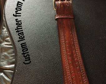 Custom Leather Guitar Strap.