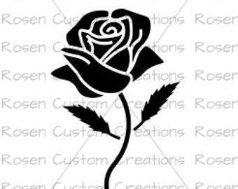 Rose SVG. Silhouette. Flower.