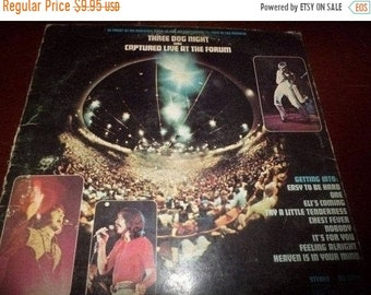 Vintage 1969 LP Record Three Dog Night Was Captured Live At The Form ABC Dunhill Records DS-50068