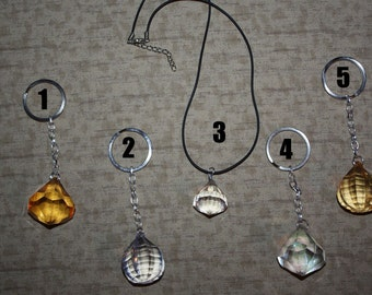 Glass Gem Jewel Accessories - Necklace, Keychains, Chokers and more