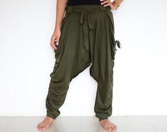 Harem pants women men, Baggy pants, Boho pants, Hippie pants, handmade item