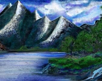 Mountainside Digital Artwork