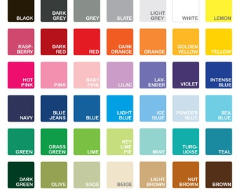 COLOR SAMPLES Vinyl for wall decals from Decals Murals