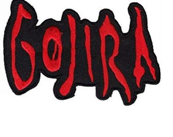 """GOJIRA Iron On Embroidered Patch 4.4""""x3"""""""