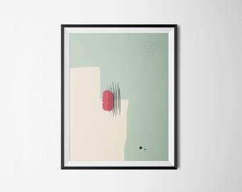 Modern Art Print, Abstract, Digital Download, Printable