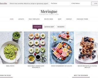 Meringue // Feminine Foodie WordPress Theme