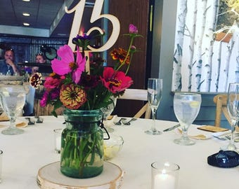 Laser Cut Wedding Table Numbers - Made from Real Wood